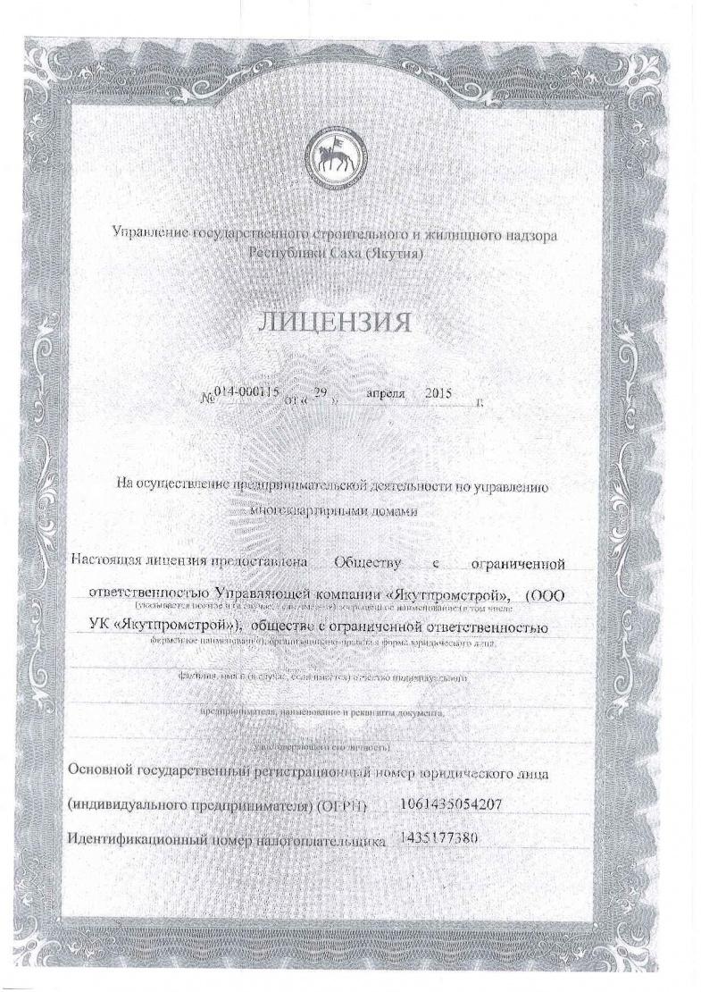 Лицензия на осуществление предпринимательства
